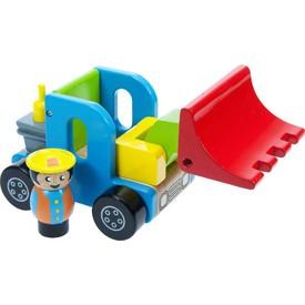 Dřevěné hračky - Barevný nakladač s řidičem