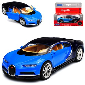 Welly - Bugatti Chiron model 1:24 modrý