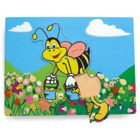 Dřevěné hračky - Vkládací puzzle - Vkládačka - Včela