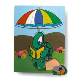 Dřevěné hračky - Vkládací puzzle - Vkládačka - Želva