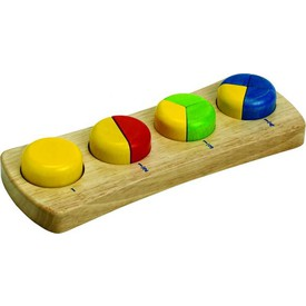 Dřevěné hračky - Zlomky - vkládačka