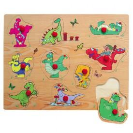 Dřevěné hračky - Vkládací puzzle - Vkládačka - Dinosauři B