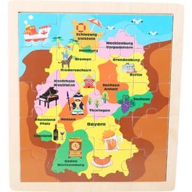 Dřevěné puzzle mapa Německa