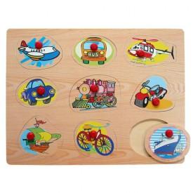 Dřevěné hračky - Vkládací puzzle - Dopravní prostředky G