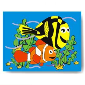Dřevěné hračky - Vkládací puzzle - Vkládačka - Hledá se Nemo
