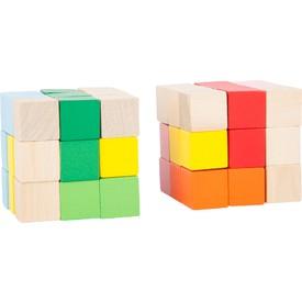 Legler Dřevěná barevná skládací kostka 1 ks
