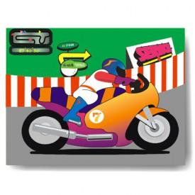 Dřevěné hračky - Vkládací puzzle - Vkládačka - Motorka