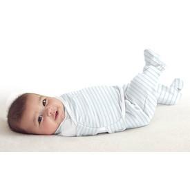 SUMMER INFANT Zavinovačka SwaddleMe Footsie velikost S modrý proužek
