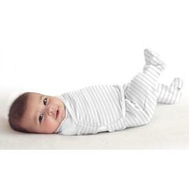 SUMMER INFANT Zavinovačka SwaddleMe Footsie velikost S šedý proužek