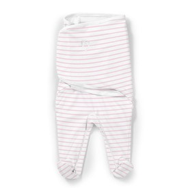 SUMMER INFANT Zavinovačka SwaddleMe Footsie velikost S růžový proužek