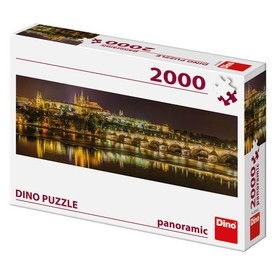DINO Puzzle PANORAMIC Karlův most v noci 2000 dílků