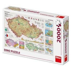 DINO Puzzle Mapa České republiky 2000 dílků