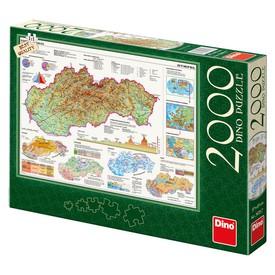 DINO Puzzle Mapa Slovenska 2000 dílků