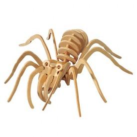 Dřevěné 3D puzzle dřevěná skládačka hmyz - Tarantule E017