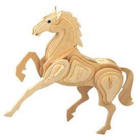 Dřevěné 3D puzzle dřevěná skládačka zvířata - Kůň E023