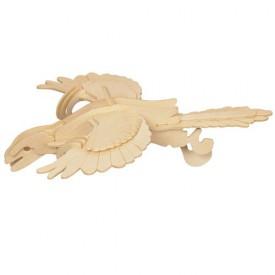 Dřevěné 3D puzzle skládačka dinosauři -  Archeopteryx E026