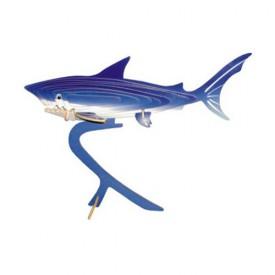 Dřevěné 3D puzzle dřevěná skládačka zvířata - Žralok EC001