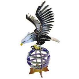 Dřevěné 3D puzzle dřevěná skládačka ptáci - Orel EC008