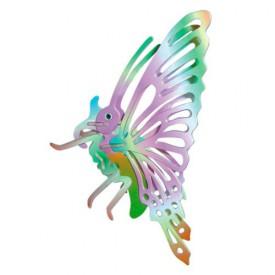 Dřevěné 3D puzzle dřevěná skládačka hmyz - malý Motýl EC022