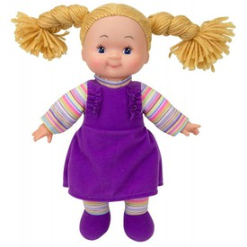 SIMBA Panenka Cheeky látková 38 cm fialové šaty
