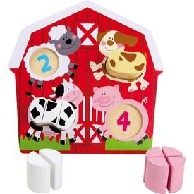Dřevěné puzzle Zvířata na farmě
