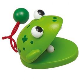 Dřevěné hračky - Dětské hudební nástroje - Kaskaněty žába