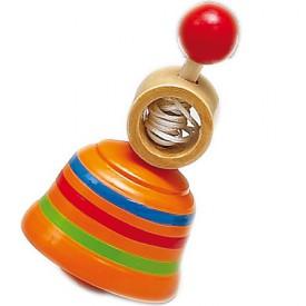 HJ Toys Dřevěná káča oranžová