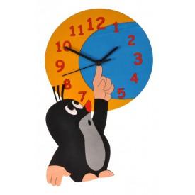 Dětské dřevěné hodiny - Krtek a měsíc