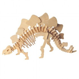 Dřevěné 3D puzzle skládačka dinosauři - Stegosaurus J002