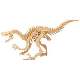 Dřevěné 3D puzzle skládačka dinosauři - Velociraptor J004