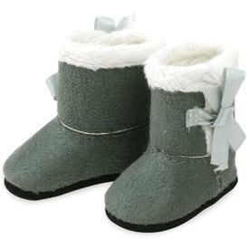Petitcollin Zimní boty šedobílé (pro panenku 34 cm)