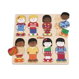Tidlo Dřevěné puzzle malí kamarádi