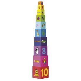 Tidlo Věž z skládacích kostek Rainbow