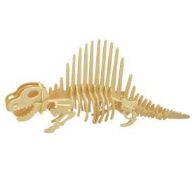 Dřevěné 3D puzzle skládačka dinosauři - Dimetrodon J012