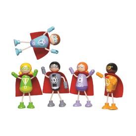Tidlo Dřevěné postavičky Superhrdinové