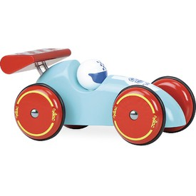 Vilac Závodní auto XL tyrkysové s červeným křídlem