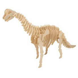Dřevěné 3D puzzle skládačka dinosauři - Brachiosaurus J013
