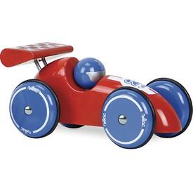 Vilac Závodní auto XL červené s modrými koly
