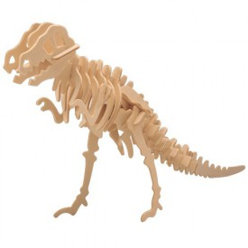 Dřevěné 3D puzzle dinosauři - Tyranosaurus T-REX J014