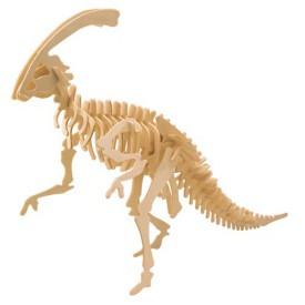 Dřevěné 3D puzzle skládačka dinosauři - Parasaurolophus J015