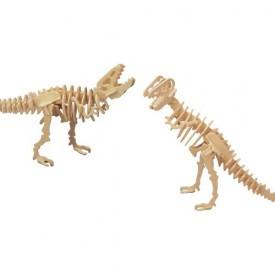 Dřevěné 3D puzzle skládačka dinosauři - Tyranosaurus T-REX