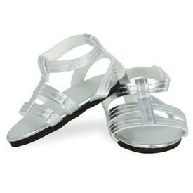 Petitcollin Sandálky stříbrné (pro panenky 39-48 cm)