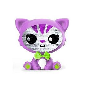 ZEQUINS Flitrová panenka kočička fialová