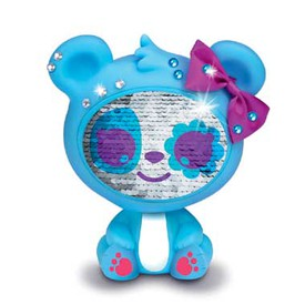 ZEQUINS Flitrová panenka medvídek modrý