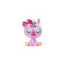 ZEQUINS Flitrová panenka jednorožec růžový