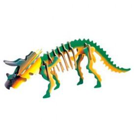 Dřevěné 3D puzzle skládačka dinosauři - Triceratops JC001