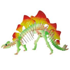 Dřevěné 3D puzzle skládačka dinosauři - Stegosaurus JC002