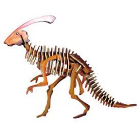 Dřevěné 3D puzzle skládačka dinosauři Parasaurolophus JC003