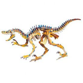 Dřevěné 3D puzzle skládačka dinosauři -  Velociraptor JC004