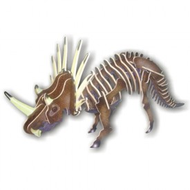 Dřevěné 3D puzzle skládačka dinosauři -  Styracosaurus JC006